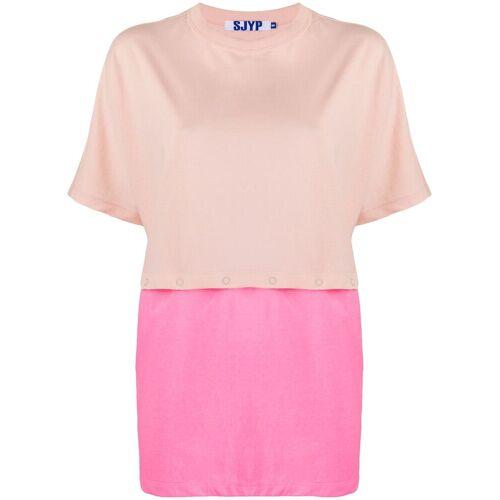 SJYP T-shirt met afneembare laag - Roze