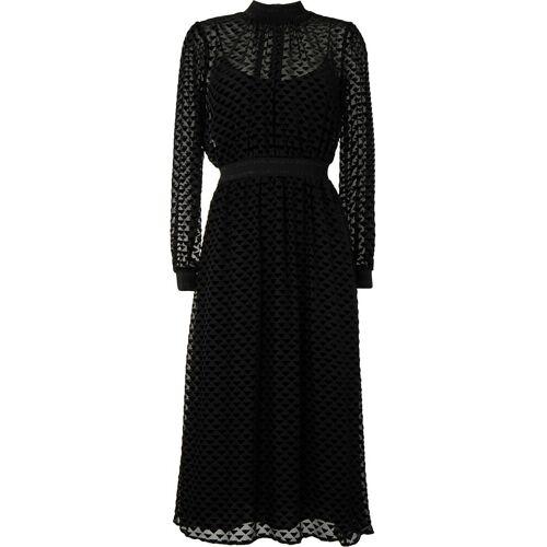 Tory Burch Midi-jurk met driehoekige vlakken - Zwart