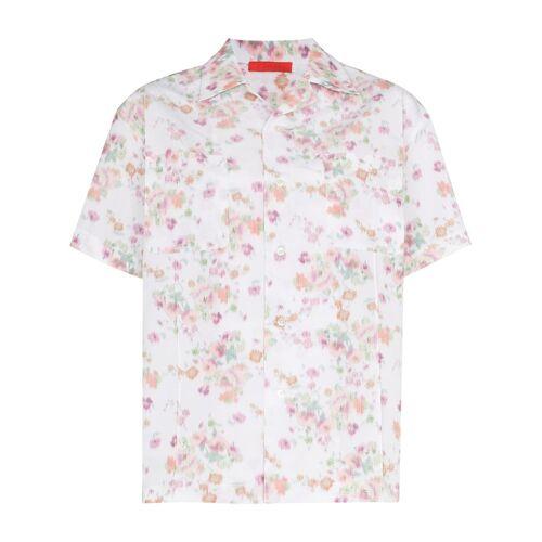 Commission Blouse met bloemenprint - Wit