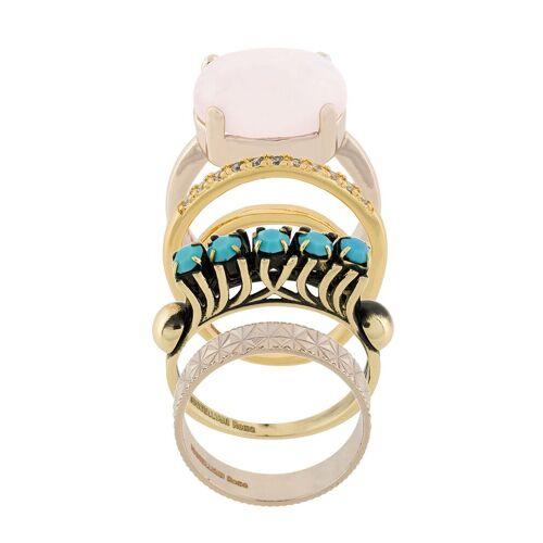 Iosselliani Elegua set ringen - Metallic