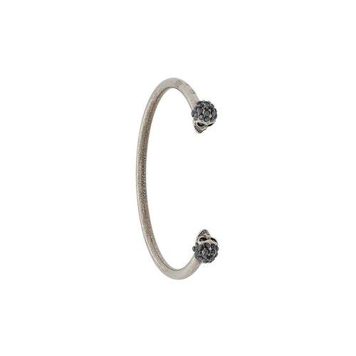 Alexander McQueen armband met tweeling doodskop en juwelen - Zilver