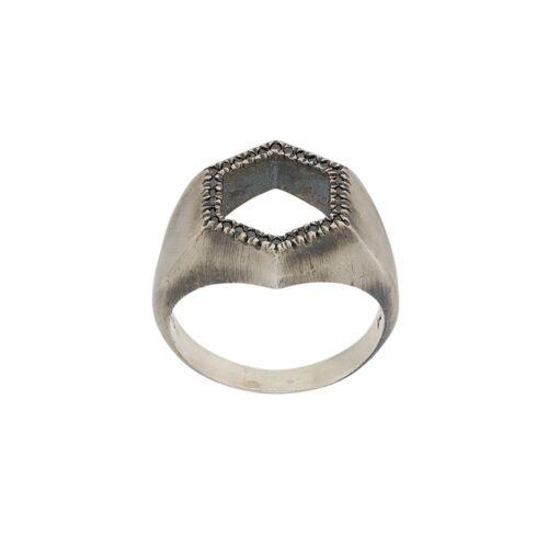 M. Cohen Zeshoekige ring - Zilver