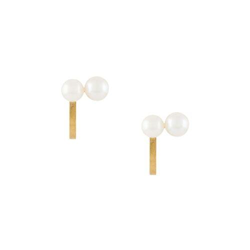 Hsu Jewellery Gebogen oorbellen - Goud