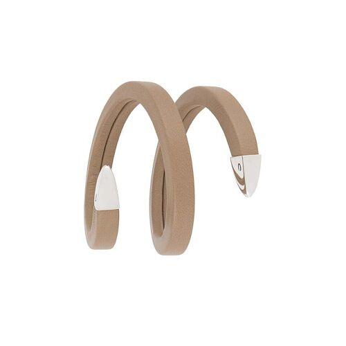 Bottega Veneta Spiraalvormige armband - Nude