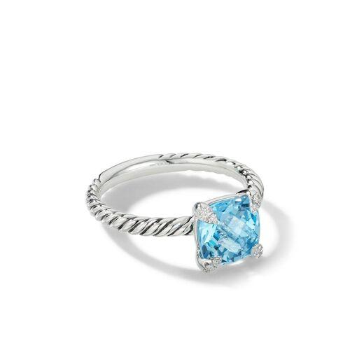 David Yurman Ring met diamant - Blauw