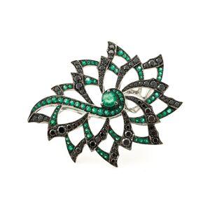 Stephen Webster diamond flower ring - Metallic