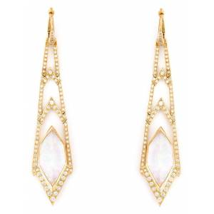 Stephen Webster 'Crystal Haze' long diamond earrings - Metallic