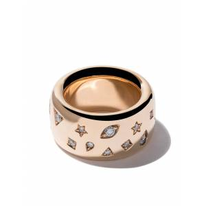 Pomellato 18kt roségoud Iconica brede band diamanten ring - ROSE GOLD