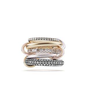 Spinelli Kilcollin 18kt gouden en zilveren ring - Silver, yellow and rose gold