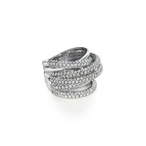 SHAY 18kt witgouden ring - Metallic