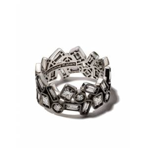 Suzanne Kalan 18kt witgouden ring - WHITE GOLD BLACK RHODIUM 17 CTS DIAMONDS