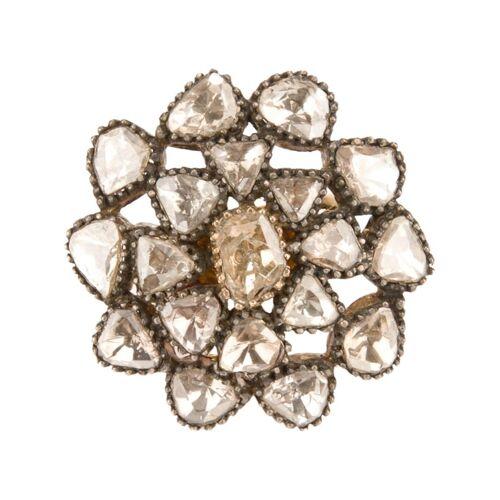 Petralux vintage stijl bloemenring - Metallic