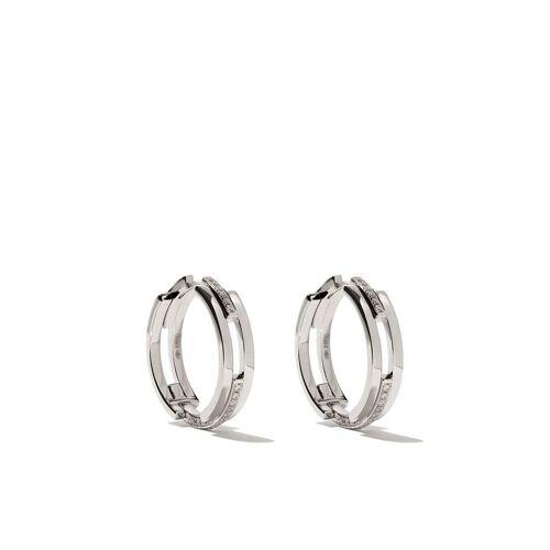 Maison Dauphin 18kt wit gouden en diamanten C3V oorbellen met alternatieve setting - WHITE GOLD