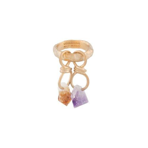 Dsquared2 Ring met edelstenen - Goud