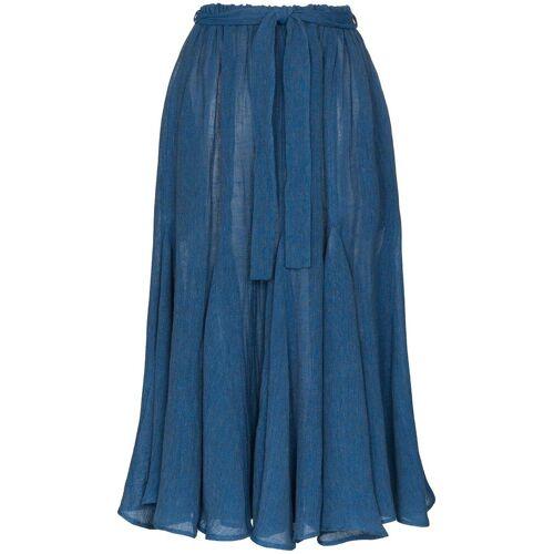 Lisa Marie Fernandez Rok van biologisch linnen - Blauw