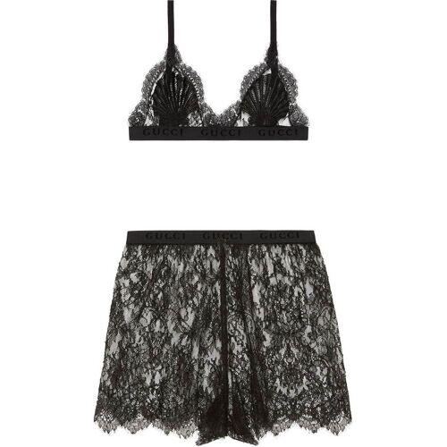 Gucci Lingerie set met bloemenkant - Zwart