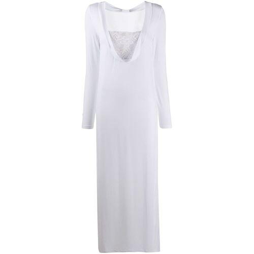 La Perla Maxi-nachthemd met kant - Wit
