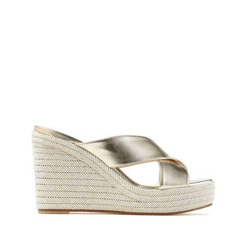 Jimmy Choo Dovina sandalen met sleehak - Goud