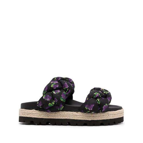 MSGM Sandalen met bloemenbandje - Zwart