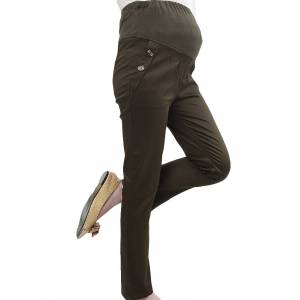Newchic Pregnant Women Soft Pencil Pants Elastic Waist Trousers