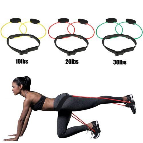 Newchic Unisex Hip Training Belt Hip Leg Muscle Training Elastic Rope Slimming Training Body Yoga Rope