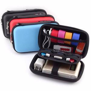 Newchic 2.5'' Portable Women Digital Storage Bag Men PU Leather Power Bank Bag