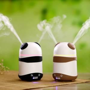 Newchic Panda Dual-Nozzle Ultrasonic Aroma Diffuser Air Humidifier Aromatherapy Mist Maker