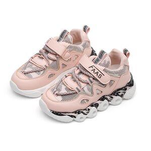Newchic Unisex Kids Mesh Panel Breathable Light Weight Hook Loop Sport Casual Running Sneakers
