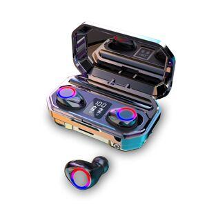 Newchic 2020 9D HiFi Bluetooth 5.0 CVC8.0 Noise Reduction Stereo Wireless TWS Bluetooth Headset LED Display Headset Waterproof Dual Headphones with Power Bank Chagring case (Monaural Version 100/800/1500mAh or Led Binaural Version 3000mAh)