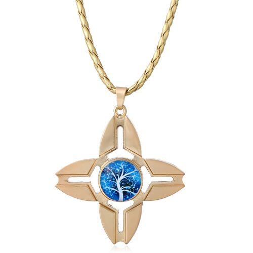 Newchic Fidget Spinner Pendant Necklace Quaternate Thorn Crab Craws for Women Men