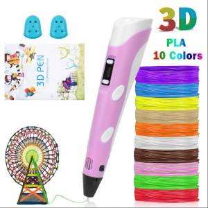 Newchic 3D Pen LED Screen DIY Creative 3D Printing Pen with USB 100m ABS Filament Creative Toy Gift For Kids Design Drawing