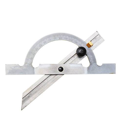 Newchic 150x100mm Stainless Steel Adjustable Protractor 10-170 Degree Angle Ruler Woodworking Tool