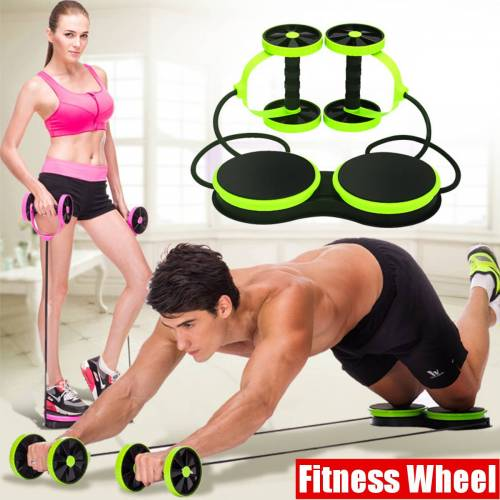 Newchic  Double Wheel AB Roller Sport Core Fitness Abdominal Exercises Equipment Waist Slimming Trainer Abdominal Trainers at Home Gym