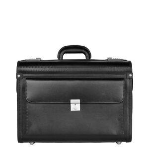 Dermata Business Leather Pilotcase zwart