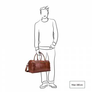 Leonhard Heyden Cambridge Travel Bag cognac