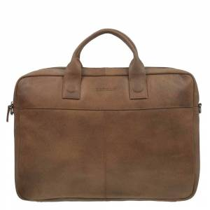 "DSTRCT Fletcher Street Workingbag 17"" cognac"