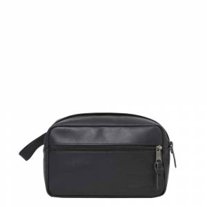 Eastpak Yap Leather Toilettas black ink leather