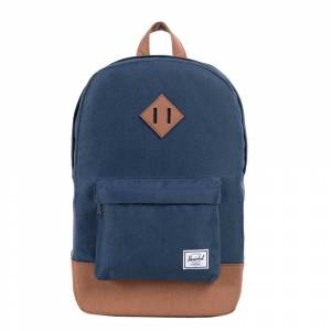 Herschel Supply Co. Heritage Mid-Volume Rugzak navy/tan synthetic leather