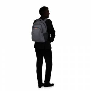 "American Tourister At Work Laptop Backpack 15.6"" grey/orange"