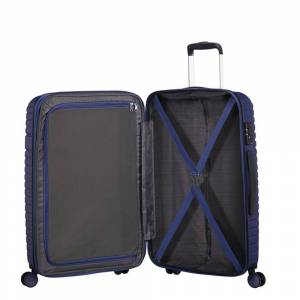 American Tourister Aero Racer Spinner 68 Expandable nocturne blue