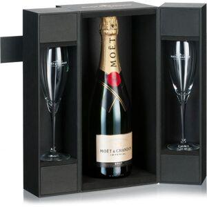 Moet Chandon Champagne Moët & Chandon Brut Imperial in luxe koffer met 2 glazen