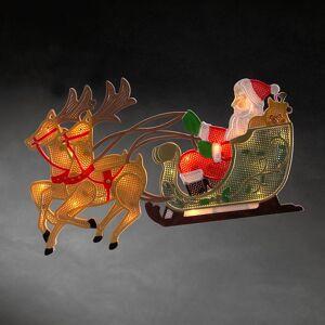 Konstsmide LED raamdecoratie kerstman met rendier warm wit (Konstsmide)