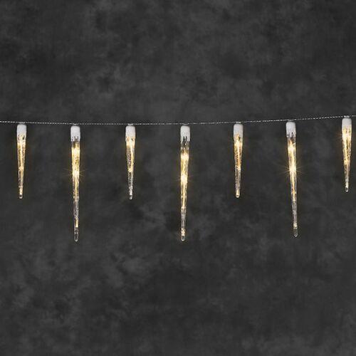 Konstsmide IJspegelverlichting 3,75 meter   extra warm wit   16 ijspegels   Konstsmide