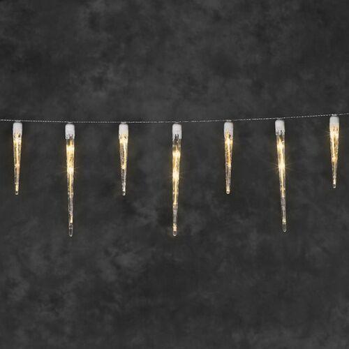 Konstsmide IJspegelverlichting 7,75 meter   extra warm wit   32 ijspegels   Konstsmide