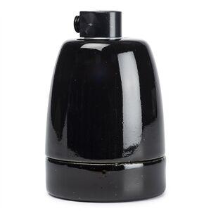 Bailey E27 lamphouder porselein zwart (Bailey)