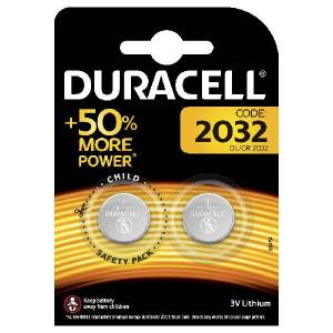 Duracell CR2032 Lithium knoopcel batterij 2 stuks