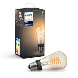 Philips Hue Bluetooth White Smart Filament Lamp E27 ST64 7W (40W)