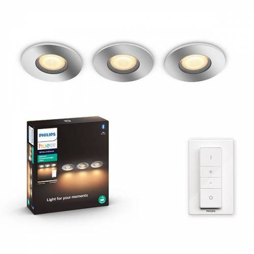Philips Hue White Ambiance Adore inbouwspots badkamer incl. dimmer 3 x 5W