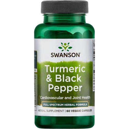 Swanson Turmeric & Black Pepper (60 caps)