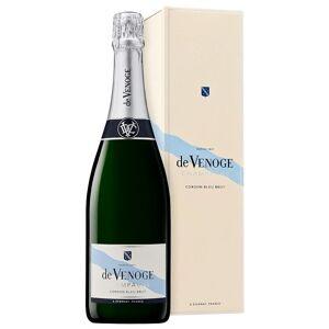 De Venoge Champagne Brut AOC Cordon Bleu De Venoge 0,75 L, Fles geval